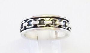 Mens 925 sterling silver heavy spinn ring 6mm
