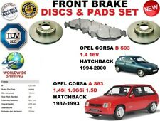 FOR OPEL CORSA A B 1.4 1.6 HATCHBACK 88-00 FRONT BRAKE DISCS SET + BRAKE PAD KIT