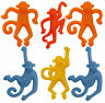 6 Stretchy Monkeys - Pinata Toy Loot/Party Bag Fillers Wedding/Kids