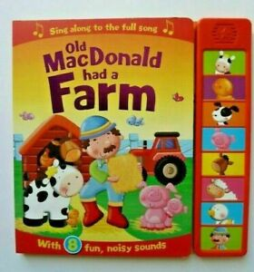 Old MacDonald Had a Farm Multi Sound Book With 8 Noisy Sounds Ages 0 Months+ New