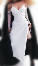 """TBLeague 1/6 Scale White Domino Lady Dress +Cuff For 12"""" PH Female Action Doll"""