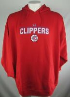 Los Angeles Clippers Mens Majestic Big and Tall Red Fleece Pullover Hood NBA