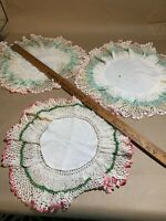 Vintage Doilies Pastels Teatime In the Garden One Damaged M17