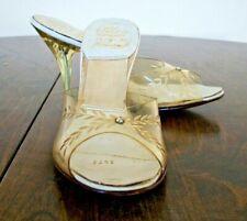 50's Vintage Cinderella High Heel Sandals Springolator Carved Acrylic Heels 5.5