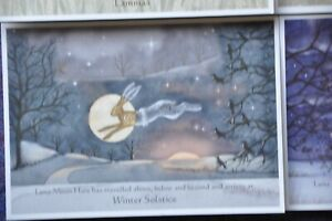 Wendy Andrew Pagan yule christmas Hare fox badger Card wife daughter mum wicca