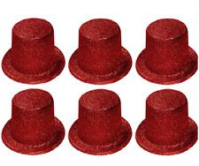 6 x donna festa di addio al nubilato maglia Cappelli ROSSO GLITTER LUCCICANTE