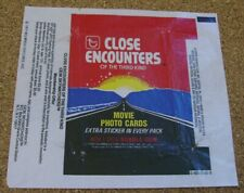1978 Topps Close Encounters of the Third Kind Trading Card Wrapper Max S&H $.99