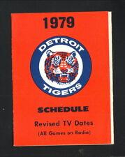 Detroit Tigers--1979 Pocket Schedule--Budweiser