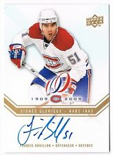 2008-09 Upper Deck Montreal Canadiens Centennial Habs INKS Auto Francis Bouillon
