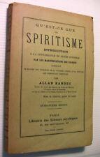 ALLAN KARDEC QU'EST CEQUELE SPIRITISME?MONDE INVISIBLE LIVRE SPIRITE BOOK BRESIL