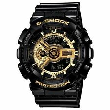 Casio G-Shock Analog Digital Anti-Magnetic Black Mens Watch GA110GB-1A New