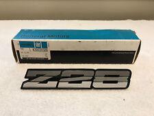 NOS 1982 Camaro Z28 Ground Effect Emblem Tri Color Silver Rare New GM 20336586