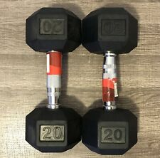 Weider Rubber Hex Dumbbell, 1 Pair of 20lb Weights (40 pounds in total)!