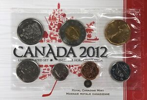 2012 Canada Coin Set from the Royal Canadian Mint with Certificate