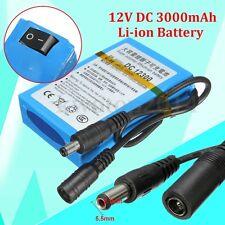 DC 12V 3000mAh DC 1230 Rechargeable Portable Super Li-ion Battery For CCTV