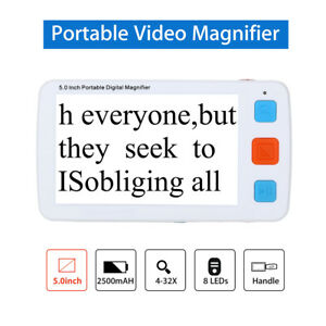 5.0inch Digital Video Smart Magnifier,Low Vision Reading Aid Pocket For Elderly