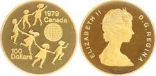 Canada 100 dollari oro, 1979, 1/2 oncia, VZ-ST, di lucidato timbri