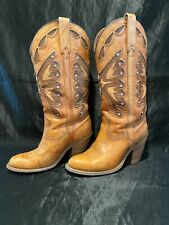 New listing Vintage Miss Capezio Butterfly Western Cowboys Boots Size 6.5