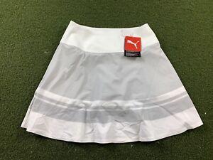 Puma Pwrshape Stripe Skirt High Rise Gray White Women's SZ S ( 599631 04 ) NWT!