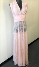 LIONESS by NASTY GAL Pink Peack Whip Lace Halter Dress Size Small NWT