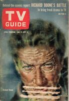 1963 TV Guide August 31 -Richard Boone;Hans Conried;Joey Heatherton;Andre Previn