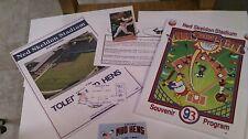 1993 Minor League Baseball Gift TOLEDO MUD HENS Program - Stub 7/10/93 Clippers