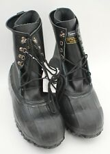 """Ranger 10"""" Men's Leather & Rubber Double-Insulated Steel Toe Pac Boots, Black"""