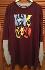 makaveli branded 2Pac TuPac Portrait Shirt Pop Art Style Thermal Sleeves 4X