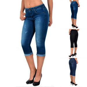 ❤️Womens High Waist Denim Skinny Cropped Jeans Summer Capri 3/4 Stretch Pants US