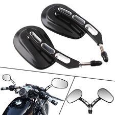 ea7abb06 Negro Espejo Retrovisor De Corte Cnc borde posterior vista lateral Espejos  para Harley Touring (Fits: 2005 Harley-Davidson Road King)