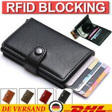 ✅Herren Kreditkartenetui RFID Schutz Mini Leder Geldbörse Geldbeutel Wallet DE~