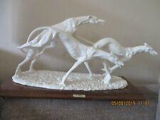 Itallian Vintage Sculpture of Racing Greyhounds DOG,figurine Capodimonte.