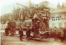 Photograph Brighton Corporation Tram 1901 Lewes Road, inaugural first run.