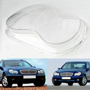 Right Headlight Lens Cover Replacement Part For Mercedes Benz C-Class W203 01-07