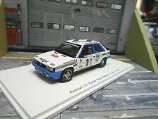 RENAULT 11 Turbo Rallye Monte Carlo 1985 #31 Oreille elf Clarr Budget Spark 1:43