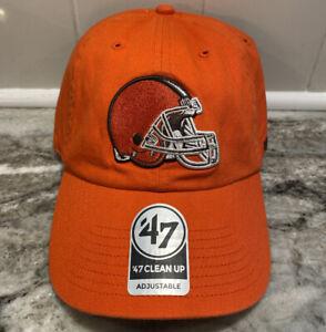 Cleveland Browns '47 Brand MVP Adjustable Slouch Orange NFL Football Hat Cap