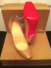 CHRISTIAN LOUBOUTIN WOMEN'S NUDE PATENT LEATHER HEELS PUMPS!! SIZE 39 (US 9)