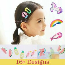 Hair clips kids girls toddler hairpin pretty unicorn baby infant cute toddler