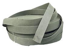 "Genuine Surplus US Canvas Army Belt Webbing Strap 2"" Wide Olive Cotton 1950's"