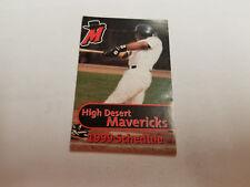 High Desert Mavericks 1999 Minor Baseball Pocket Schedule - Daily Press