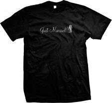 Just Married Wedding Marriage Newlyweds Groom Mens T-shirt