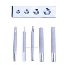 6 Set Craft Tool Die Punch Snap Rivet Setter Base Kit DIY Leather Craft Tools