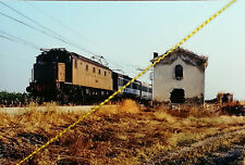 Fotografia  ferrovia treno locomotiva FS E 428 linea ADRIATICA RIGNANO GARGANICO