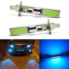 2x H1 Car 8000K Ice Blue COB LED Fog Driving Light DRL Daytime Running Lamps