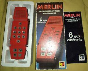 MERLIN Jeu Electronic MIRO MECCANO 1979 en boîte et notice