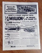 1956 AMC Rambler Nash Ad  1/4 Million Million Giant Contest to Name It