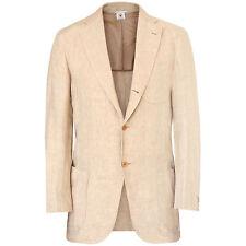 BORRELLI NAPOLI $2,495 tan summer linen blazer Linosa jacket 40-US/50-IT NEW