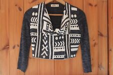Hollister Designer jacket size Xtra Small Ladies Aztec Printed Cropped knitted 8