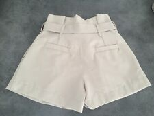 SUBLIME SHORT A PINCE FEMME TRES CHIC BEIGE+ CEINTURE TAILLE S MADE IN ITALIE