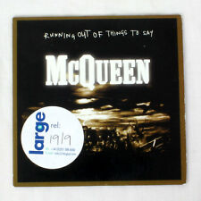 McQueen - Running Out Of Things To Say - music cd ep